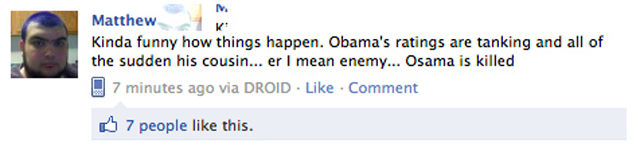 Stupid Facebook Reactions to the Death of Osama Bin Laden