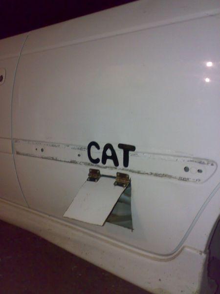 A Unique Place for a Cat Door