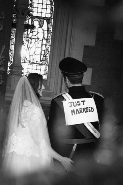 Crazy Behind the Scenes Royal Wedding Pictures