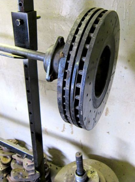 Weight Training Equipment Made From Old Car Parts