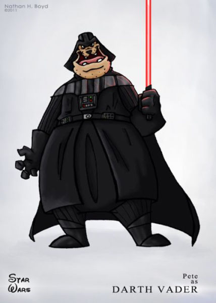 Star Wars and Characters from Disney Meet