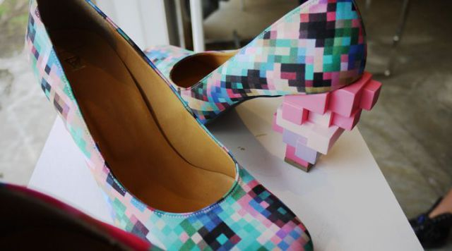 Pixilated Clothes and Shoes