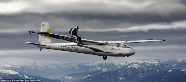 Flying on the Wing of a Glider