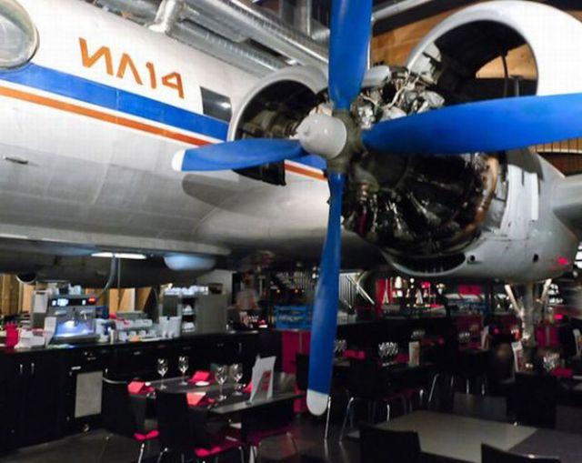 Restaurant on an Airplane Board