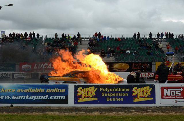 Dragrace Explosion + Fire