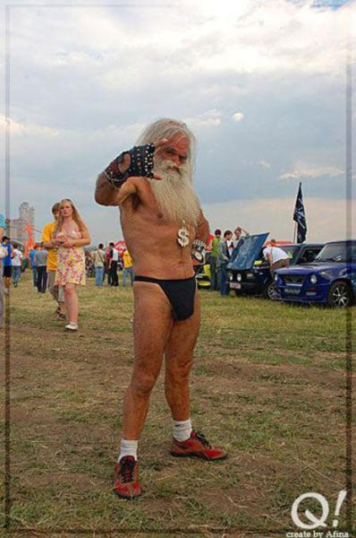 Scandalous Russian Grandpa