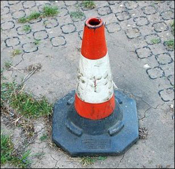 Road Cone with a Surprise