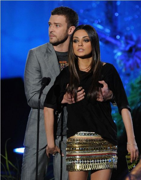 Mila Kunis and Justin Timberlake at MTV Movie Awards