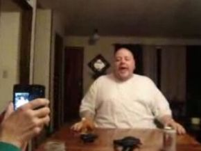 Fat Guy Imitates Crying Baby – Kinda Disturbing