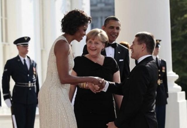 Anger Merkel Has a Thing for Michelle Obama