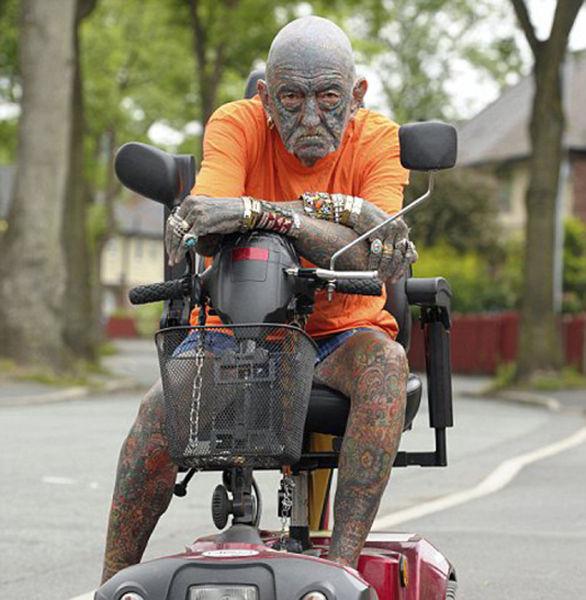69-Year-old UK Man Likes Tattoos