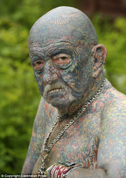 69-Year-old UK Man Likes Tattoos