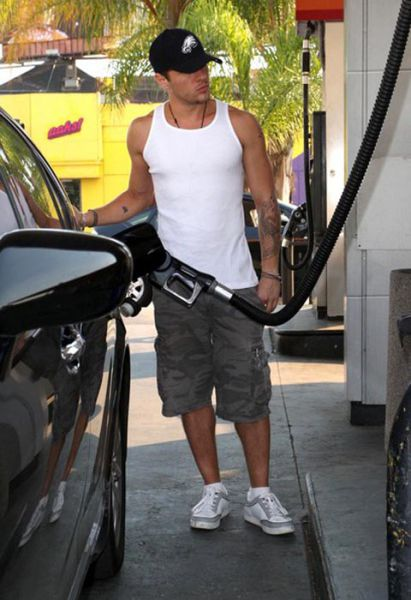 Celebrities at Gas Stations