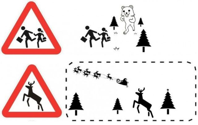 Funny Interpretation of Road Signs