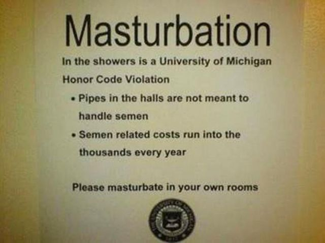 Please Masturbate in Your Own Rooms