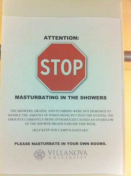 Please Masturbate in Your Own Rooms