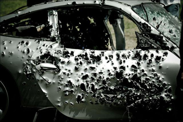 A Shot Up Porsche 911