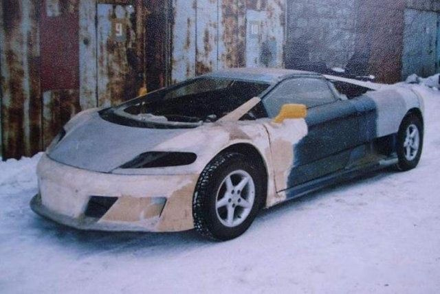 Brilliant Russian Man Builds His Own Sleek Car