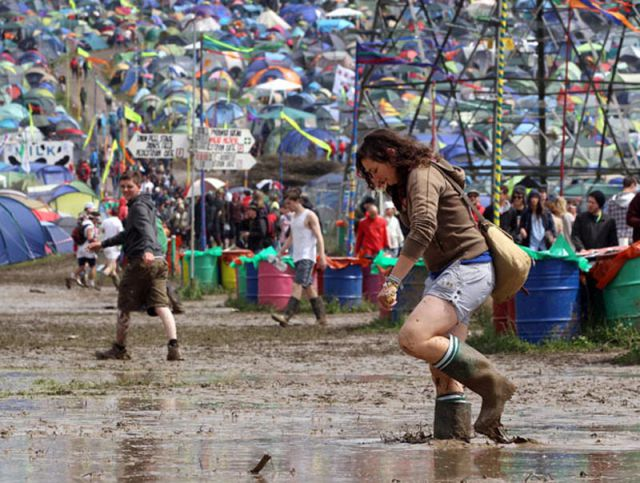 Mud Drenched Glastonbury 2011 Music Festival