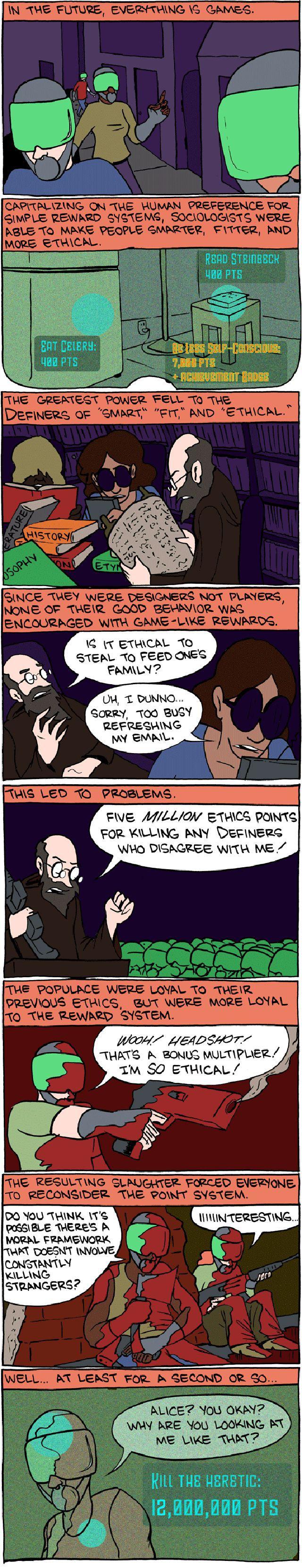 Subversive Futuristic Comic Strip