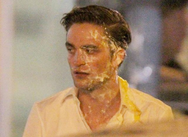Eye on Stars: Robert Pattinson Attacked By Pie and Other Hollywood News