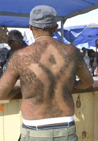 Hairy Men Create Back Hair