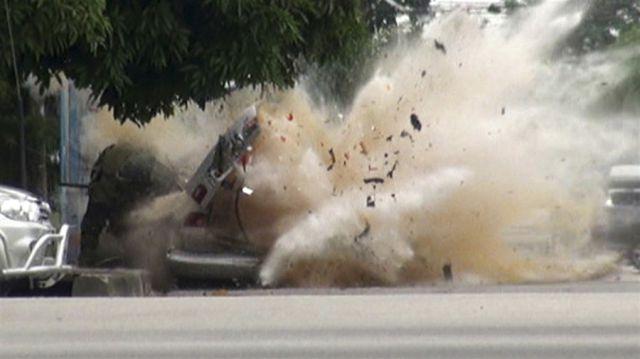 Incredible Thailand Car Explosion