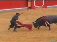 Bullfighter Gets Flipped Twice