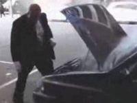 Crazy Guy vs Broken Car