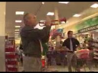 Marching Band Flash Mob in Grocery Store