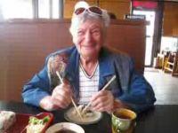 Grandma's First Sushi with Chopsticks