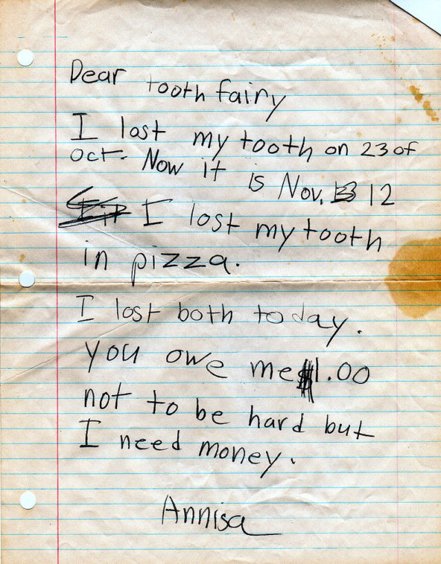 Audacious Tooth Fairy Letters