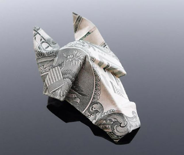 Gorgeous Dollar Bill Origami Art