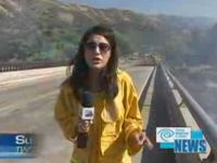News Reporter Gets Splashed Big Time