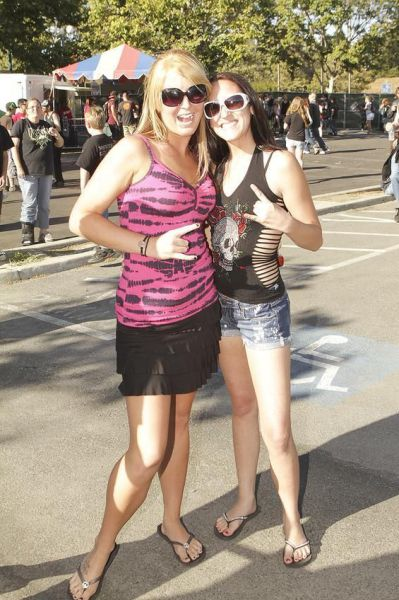 Girls from Rockstar Mayhem Festival 2011