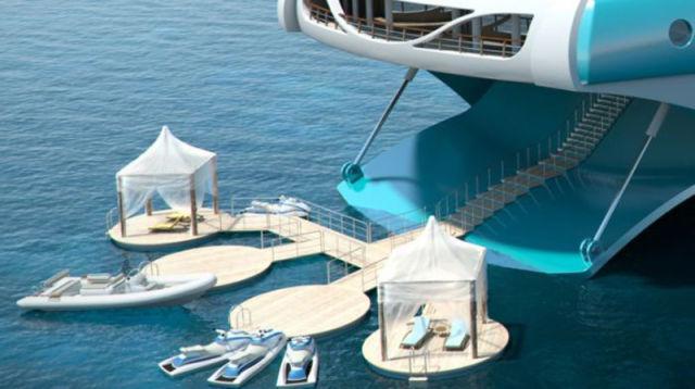 An Island on a Yacht