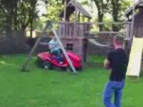 Mower 'Prank' Turns into Major Fail
