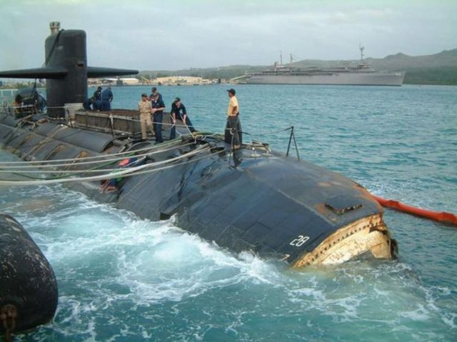 Oldie of the Day: US Submarine Collision with an Undersea Mountain