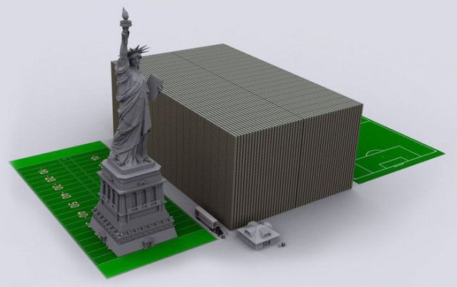 Staggering Representation of US Debt With $100 Bills