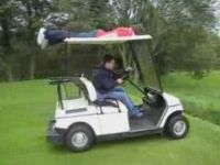 Planking on a Golf Cart Is Not a Bright Idea
