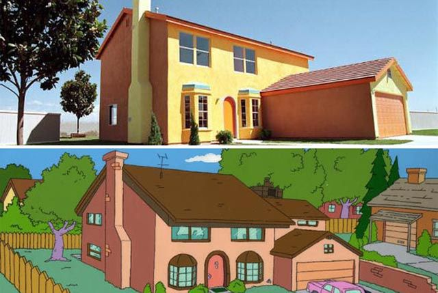 Oldie of the Day: The Simpsons Cartoon House in Real Life