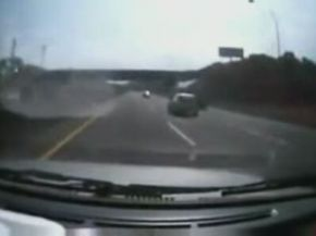 Stupid Driver Causes Accident on the Highway