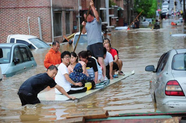 Crazy Floods in South Korea