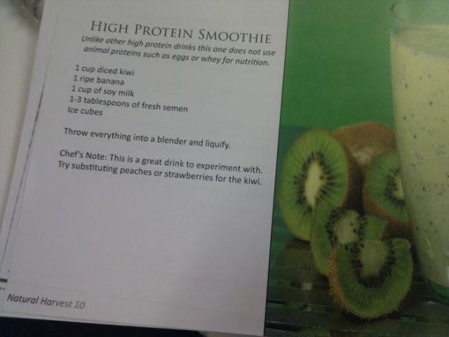Is It Real? A Semen Based Cookbook