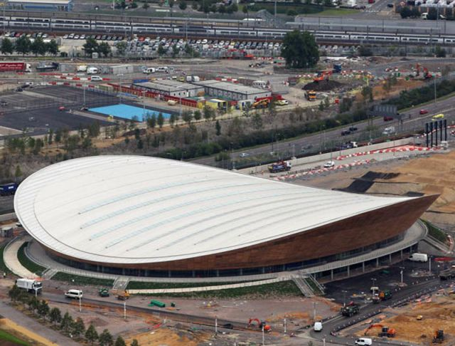 Photos from above of 2012 London Olympic Games Venues