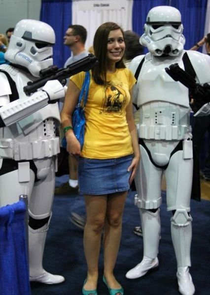 Sexy Girls Posing With Stormtroopers