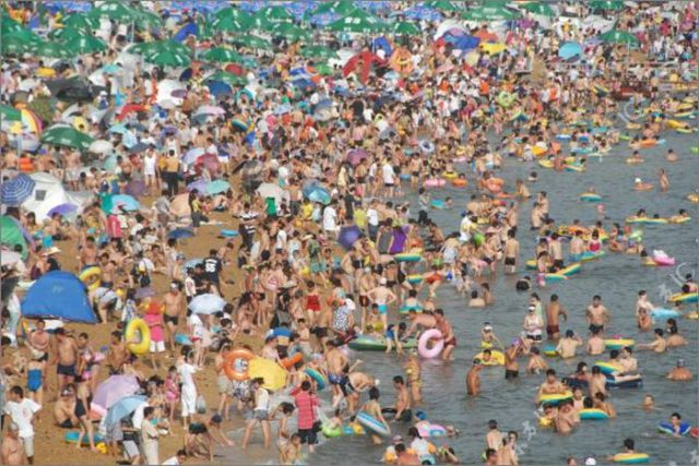 When Beach Gets Overcrowded. Part 2
