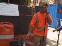 Construction Worker Sings Frank Sinatra like a Boss