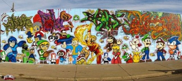 Amazing Collection of Video Game Street Art