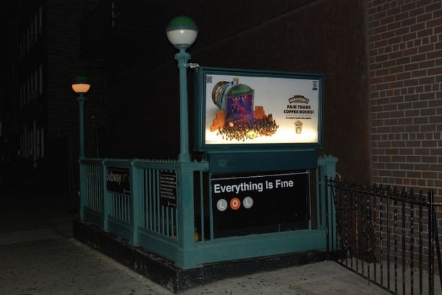 """""""Feel Good"""" Signs in NYC Subways"""